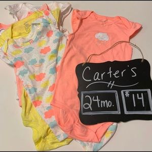 Carter's Baby Girl 24m Rainbow Baby Onesies, NWT